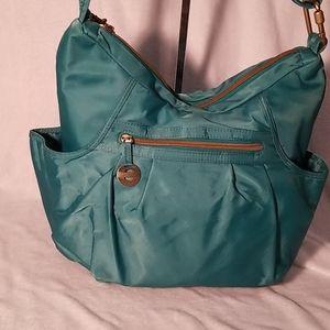 Travelon turquoise travel bag